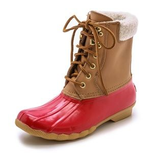 SPERRY duck boots with fur lining
